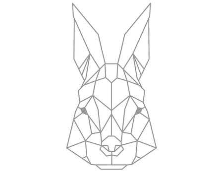 Polygonal rabbit. 向量圖像