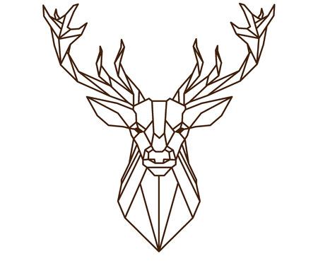 Polygonal deer.
