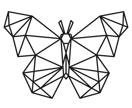 Polygonal digital drawing. Ilustrace