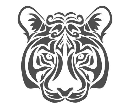 Abstract tiger.