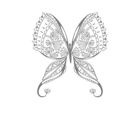 The flower design.  イラスト・ベクター素材