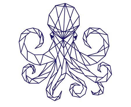 Polygonal octopus.  イラスト・ベクター素材