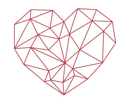 Polygonal heart.