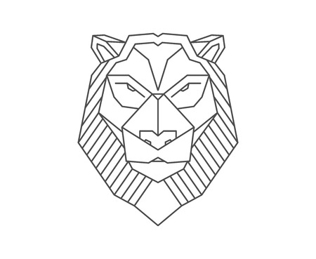 Polygonal lion.