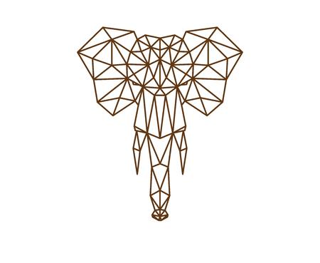 多角形の象。 写真素材 - 88261579