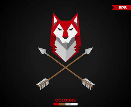 Wolf With Arrows icon design