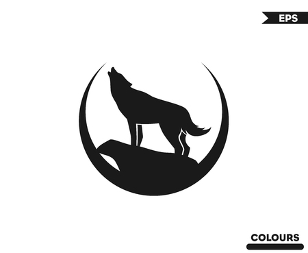 Wolf Roaring Logo Stock Illustratie