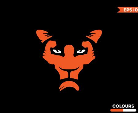 Tiger Gym icon design on black background Imagens - 99334572