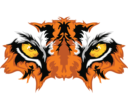 Tiger Eyes Stock Vector - 99334574