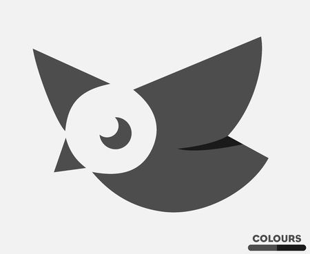 Abstract little Bird Illustration