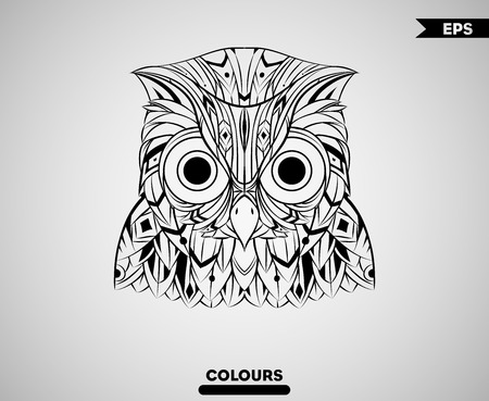 Abstract Owl Head Imagens - 100224001