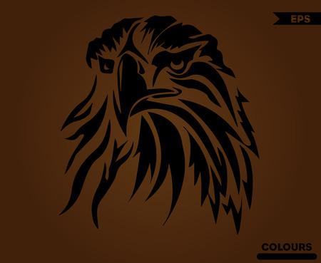 Águila americana enojada