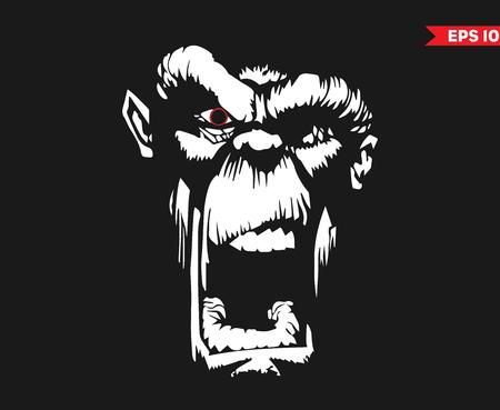 怒っている猿 写真素材 - 100224007