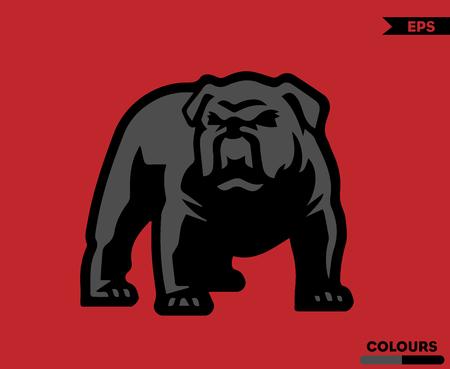 Angry Pull Dog  イラスト・ベクター素材
