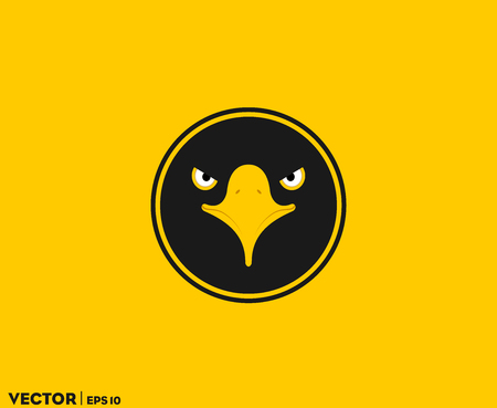 Black Eagle Eye In Circle