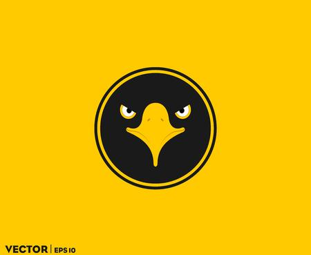 Black Eagle Eye In Circle Imagens - 100786157