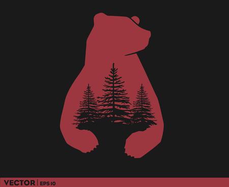 Bear Country Logo Imagens - 100786162