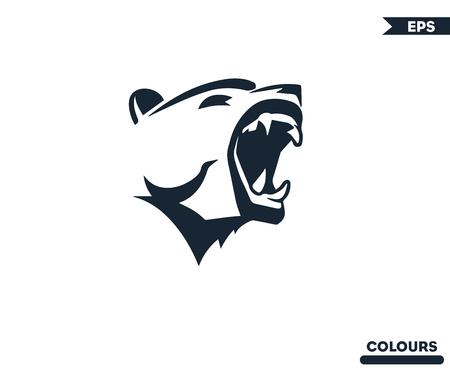 Bear Roaring Logo Imagens - 100786158