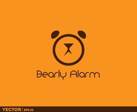 Bearly Alarm Logo Imagens - 100786164