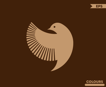 Bird side Logo 写真素材 - 100786172