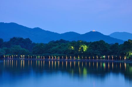 night scenery: West Lake night scenery