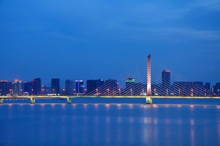 xing: West Bridge in Hangzhou Editorial