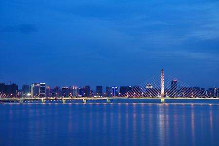 wei: West Bridge in Hangzhou Editorial
