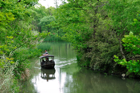 boatman: Hangzhou xixi wetland landscape