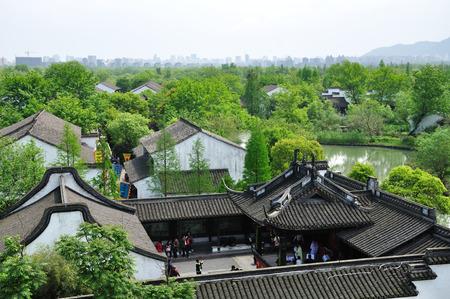 horizontal format horizontal: Hangzhou xixi wetland landscape