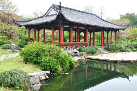 horizontal format horizontal: Hangzhou Botanical Garden Stock Photo