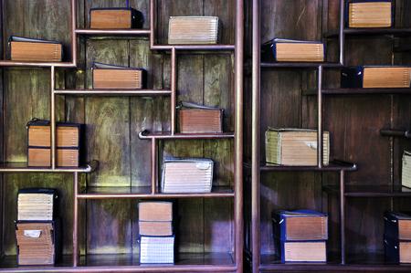 architectural studies: bookshelf Stock Photo
