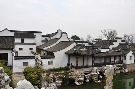 ancient architecture: Jiangnan architectural buildings Stock Photo