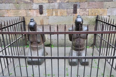 The statue of the prisoner