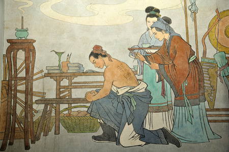 paiting of Yuefei and his mother