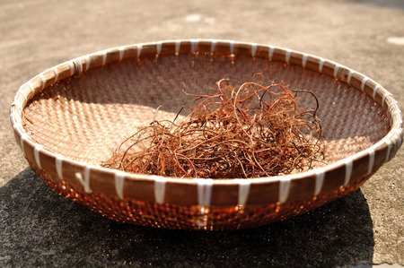 farm implements: ancient chinese wicker basket