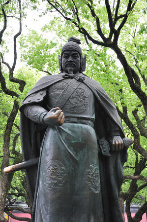 ancients: Yue Fei statue Stock Photo