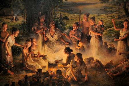 ancestors: Liangzhu ancestors pleasures map