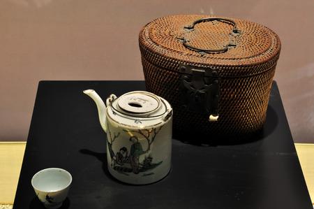 bang: tea set at  Hang Bang museum