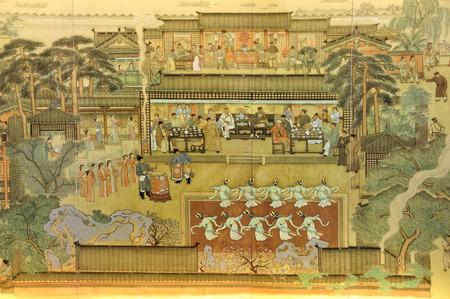 Pittura cinese Archivio Fotografico - 64766262