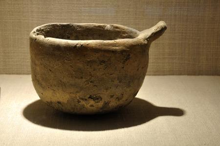 charcoal: Charcoal pottery pot