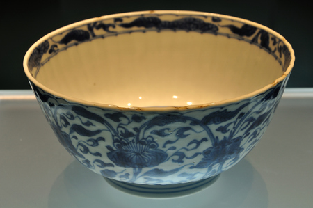 bang: Blue and white bowl,porcelain at Hang Bang museum