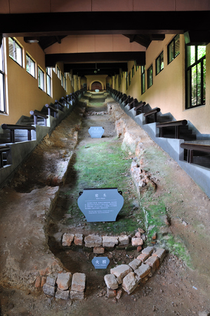 song dynasty: The Southern Song Dynasty kiln ruins Editorial
