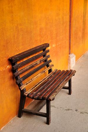 silla de madera: Silla de madera Foto de archivo