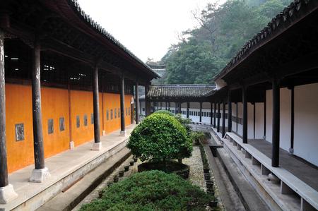 stele: Guoqing Temple Stock Photo