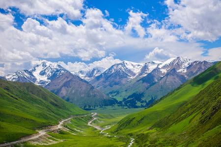 grassland: mountain valley Stock Photo