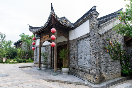 olden day: Entrance of YanQuanHanGuan hotel Editorial