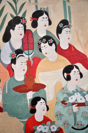 Mogao grottoes in Dunhuang murals