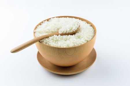 A bowl of white rice Foto de archivo