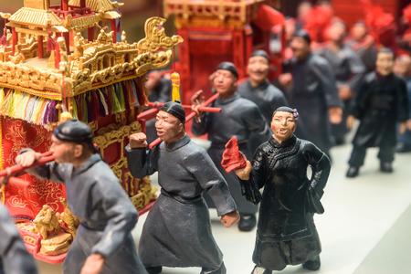 China ancient statue procession