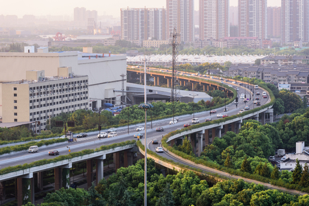 Landscape view of a city in China 写真素材